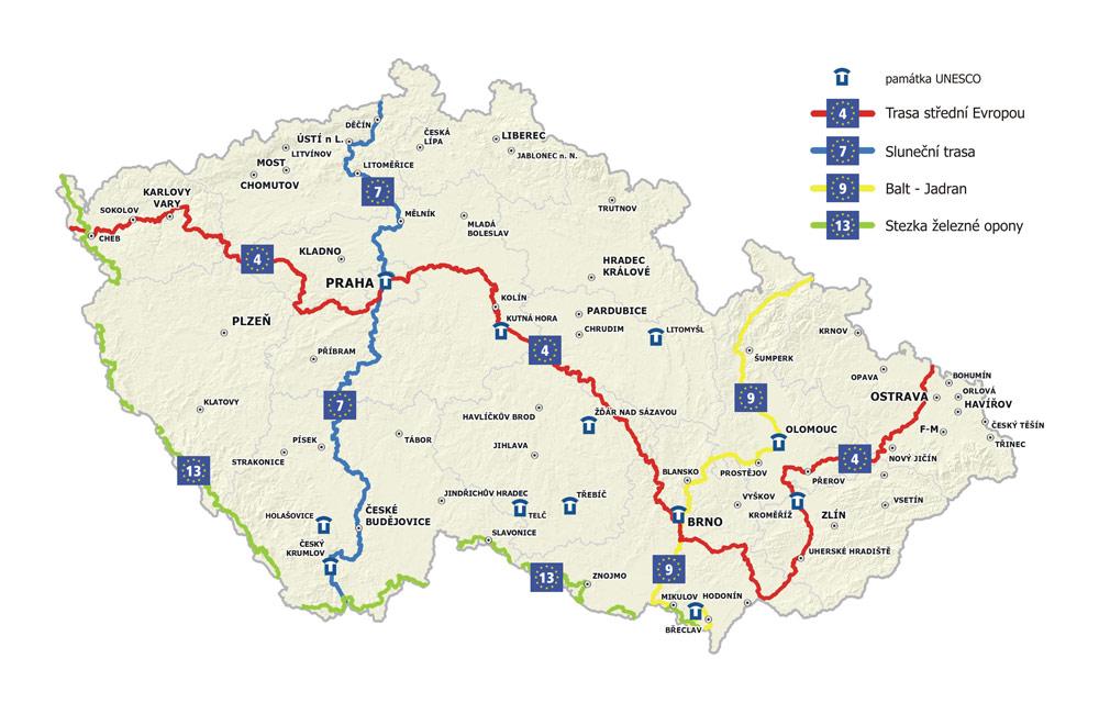 Dalkove Cyklotrasy Euro Velo Cistou Stopou Prahou